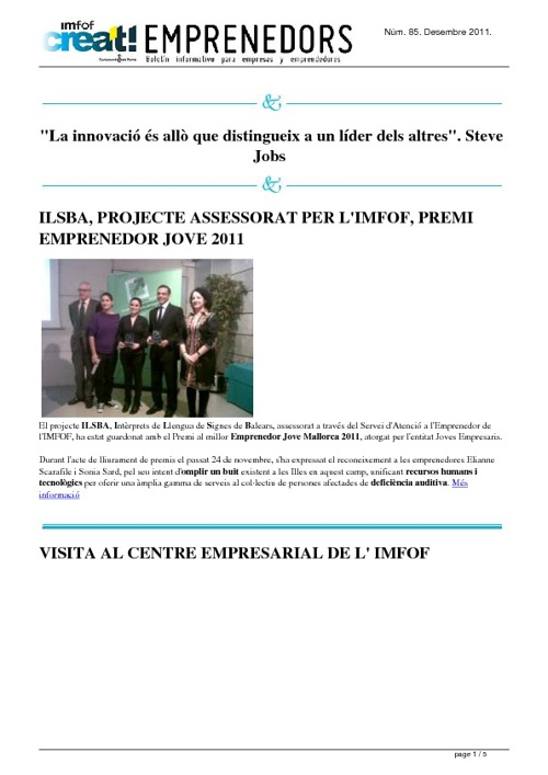Newsletter dic 2011