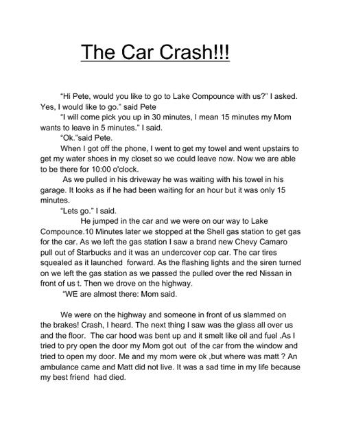 my 6th grade writing