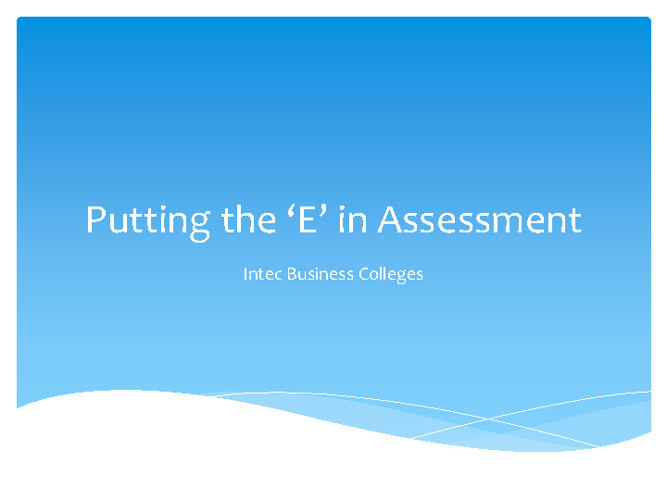 E-Assessment Project