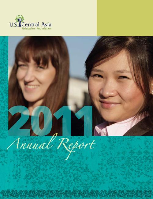 Rv 3 U.S.-Central Asia Education Foundation 2011 Annual Report