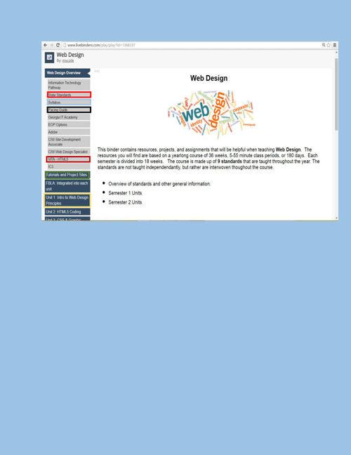 Web Design Livebinder