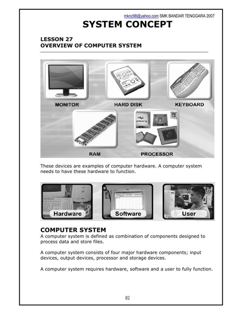 COMPUTER SYSTEM (LA2)