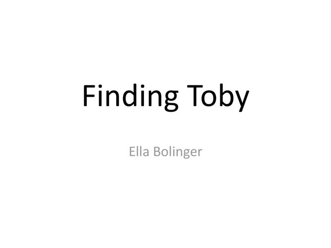 Findingtoby