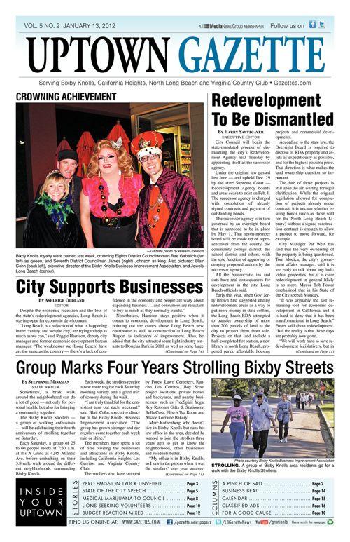 Uptown Gazette     January 13, 2012