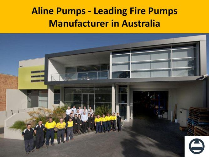 Aline Pumps -Best Fire Pump Manufacturer in Australia
