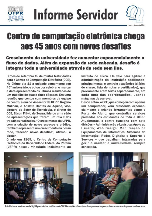 Informe Servidor Outubro 2014