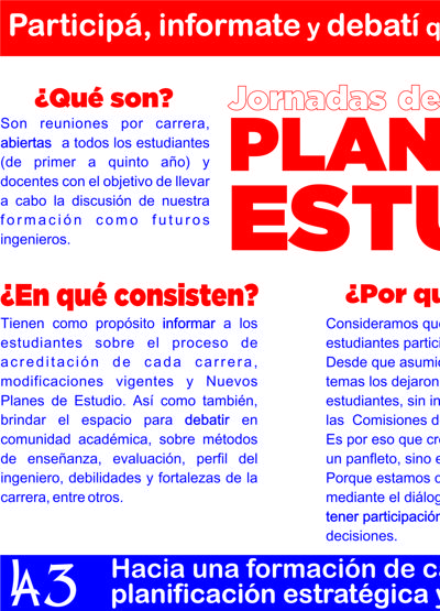 JORNADAS DE PLANES DE ESTUDIO