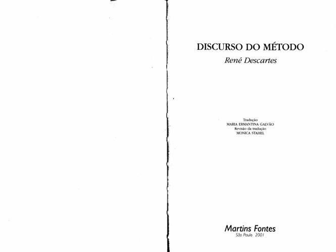 DESCARTES_Discurso_do_método_Completo