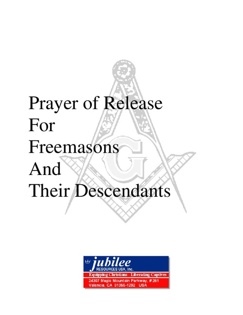 Prayer of Release from Freemasonry