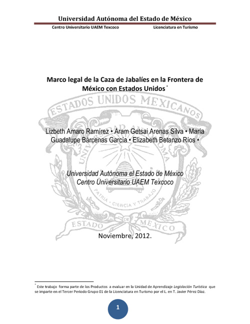 Marco legal de la Caza