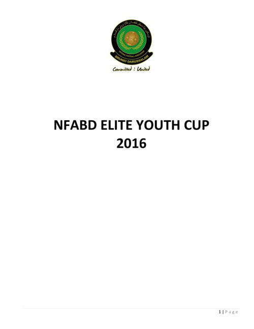 NFABD Elite Youth Cup 2016 Rules and Regulation