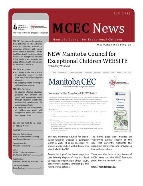 MCEC News Fall 2012