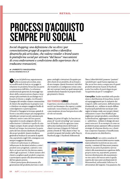 PROCESSI DI ACQUISTO SEMPRE PIU' SOCIAL