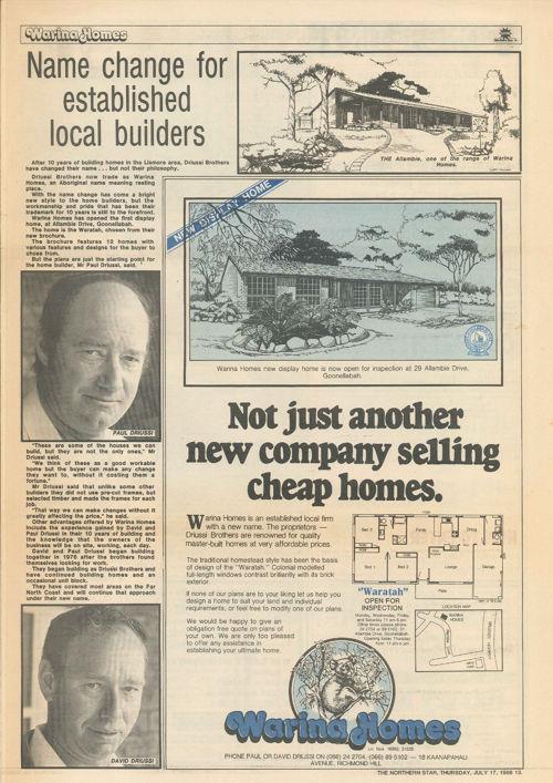 Del Casa Homes History (Northern Star)