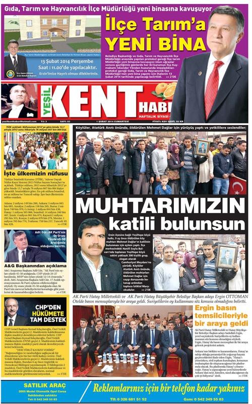 Yeşilkent Haber Gazetesi - Sayı 83