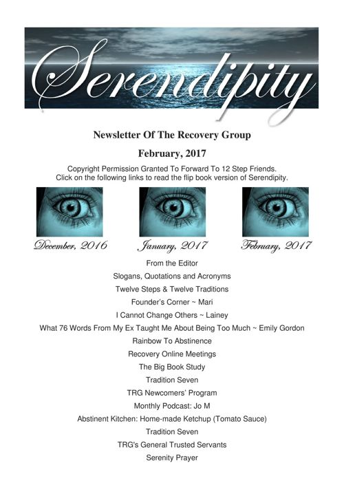 02  Serendipity  ~ February 2017