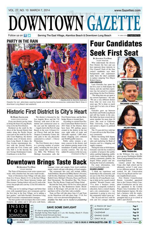 Downtown Gazette     March 7, 2014