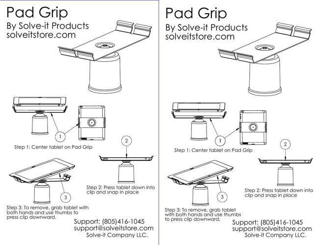 Pad Grip Instruction