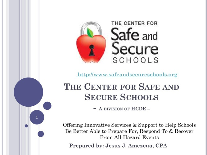 2013 Center for Safe & Secure Schools Annual Board Report