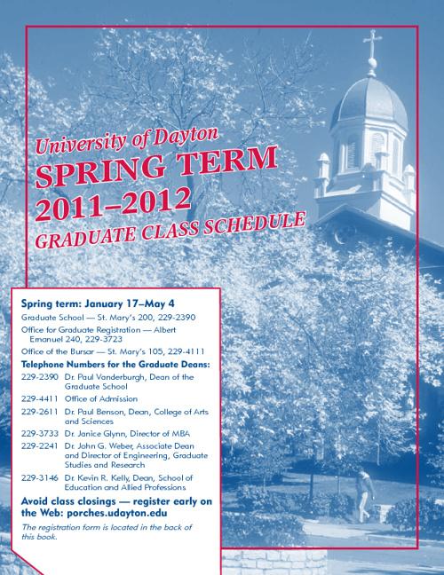 Spring term 2011-12 Graduate