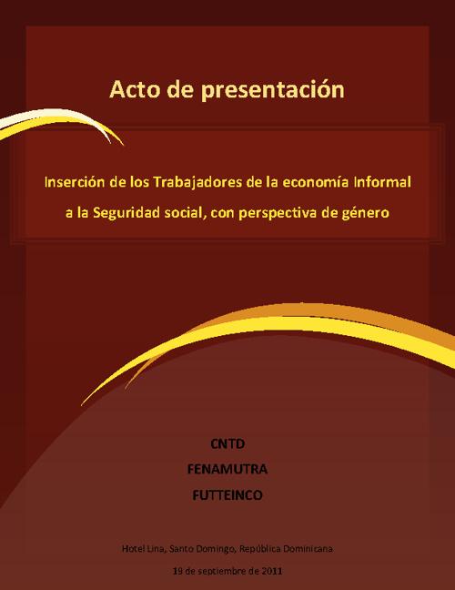 FENAMUTRA - Presentación estudio seguridad social
