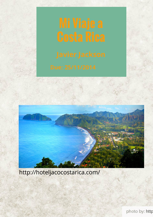 Mi Viaje a Costa Rica