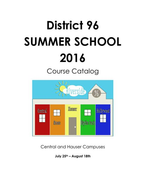 Summer School Catalog