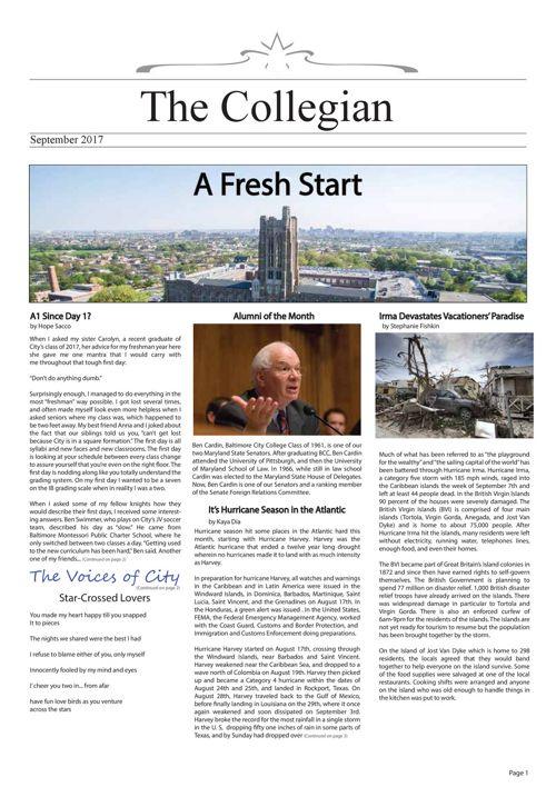 The Collegian Sept 2017 LXXXVIII Issue I