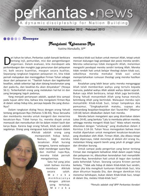 Perkantas News Edisi Desember 2012 - Pebruari 2013