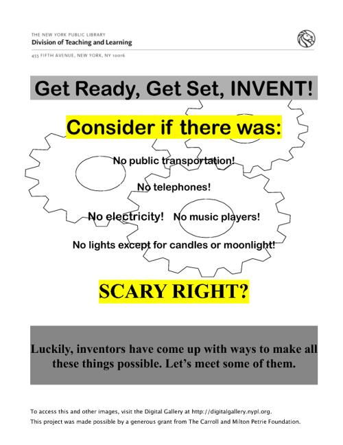 Inventors Lesson NYPL