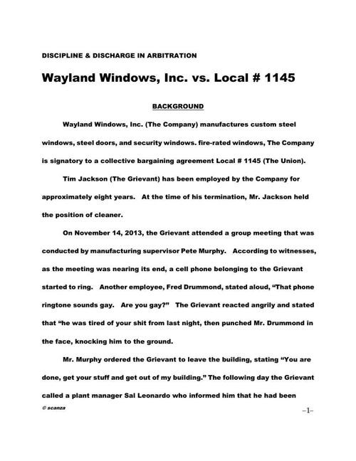Background Information - WAYLAND WINDOWS