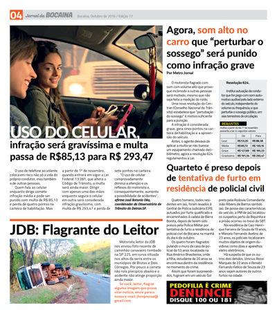 JORNAL DA BOCAINA - EDIÇÃO DE OUTUBRO / 16