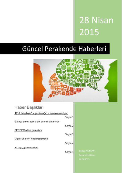 Türkiye Perakende Güncel Haber 28 nisan