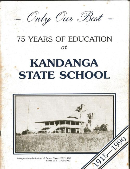 75 years Kandanga School book