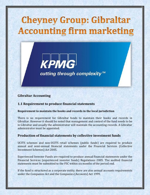 Cheyney Group - Gibraltar Accounting firm marketing