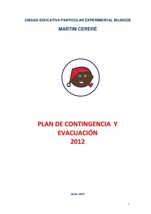 Plan de Contingencia y Evacuación