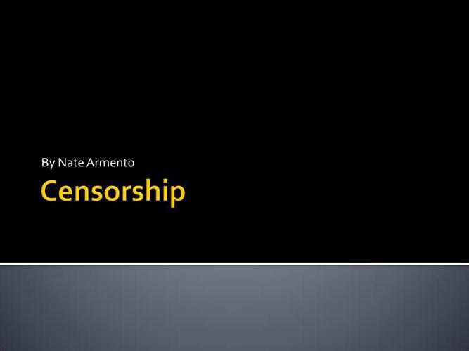 Censor power point