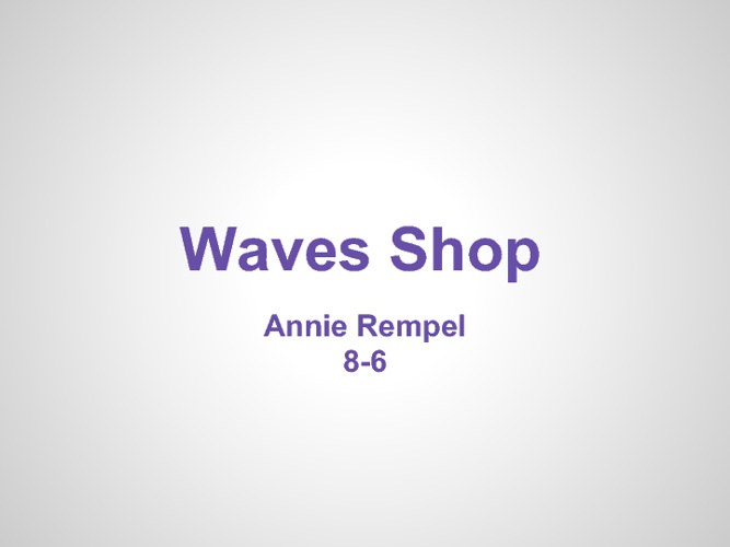 Waves Shop