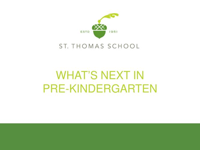 STS What's Next for PreK