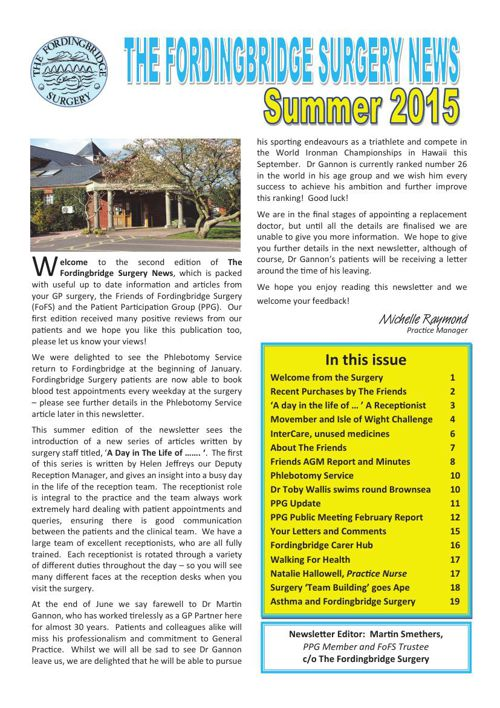 Fordingbridge Surgery - News June 2015