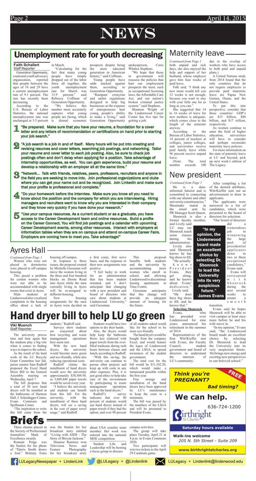 April 14 issue of The Legacy