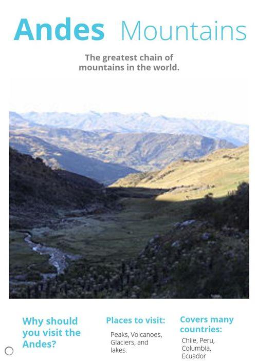 The Andes by Megan bayuk
