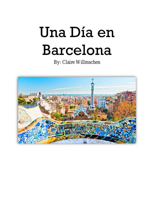 SPANISH II A Day in the City booklet