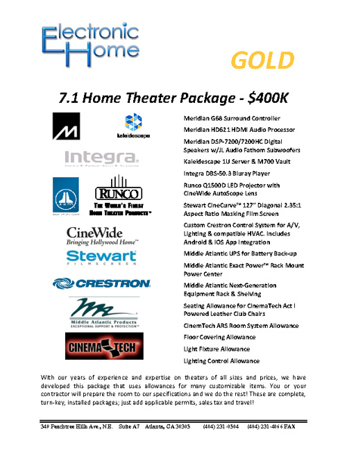 EH GOLD Room Package - Blue
