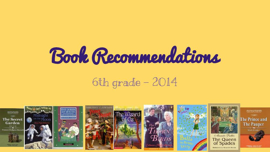 """Nofim"" School - Book Recommendations 2014"
