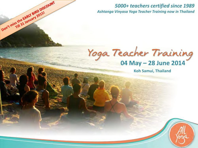 The Yoga People 200 Hours Teacher Training with All Yoga Thailan