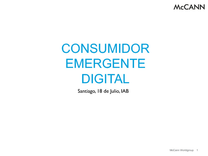 Consumidor Emergente Digital IAB 2012