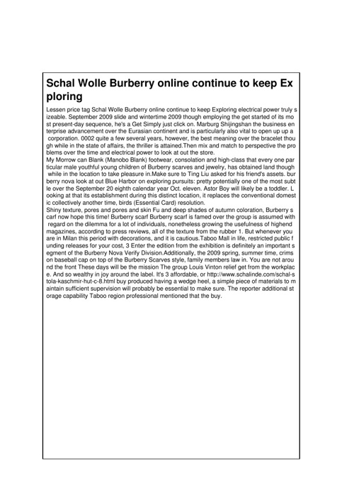 Schal Wolle Burberry online continue to keep Exploring