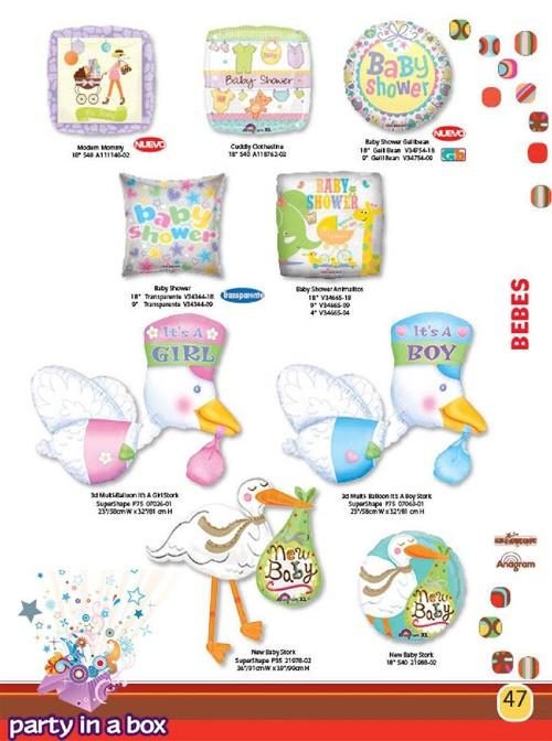 Catálogo Globos Baby Shower