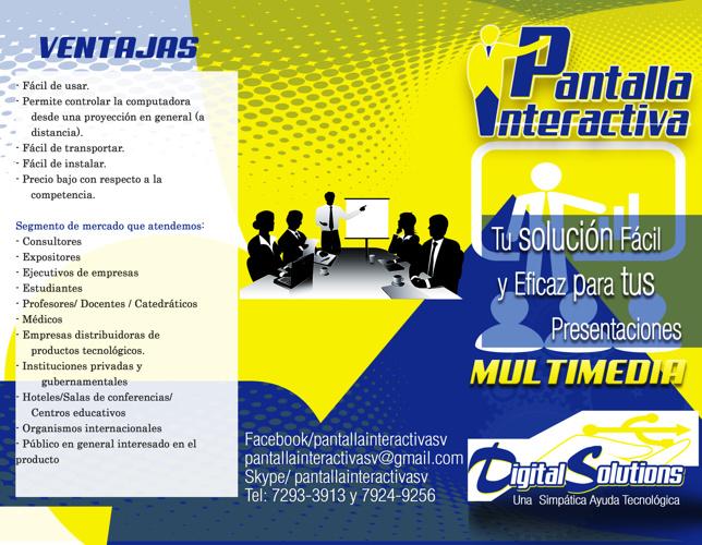 Brochure Pantalla Interactiva